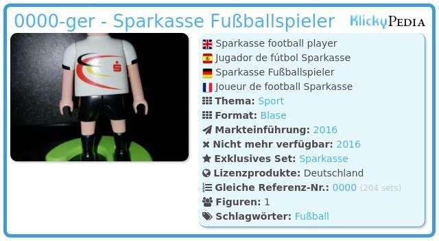 Playmobil 0000-ger - Sparkasse Fußballspieler