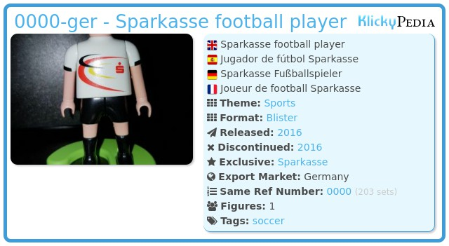 Playmobil 0000-ger - Sparkasse football player