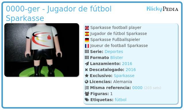 Playmobil 0000-ger - Jugador de fútbol Sparkasse