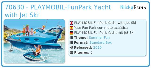 Playmobil 70630 - PLAYMOBIL-FunPark Yacht with Jet Ski
