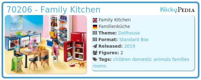 Playmobil 70206 - Family Kitchen