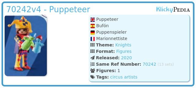 Playmobil 70242v4 - Puppeteer