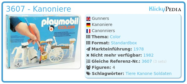 Playmobil 3607 - Kanoniere