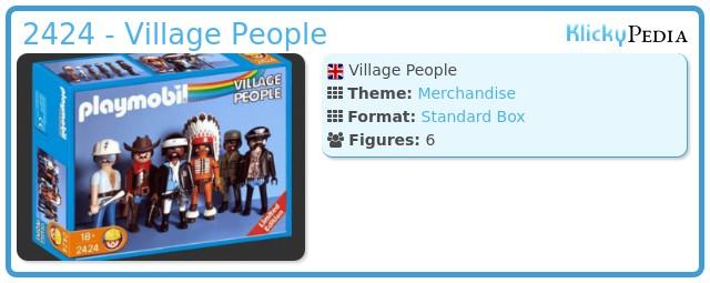 Playmobil 2424 - Village People