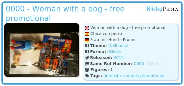 Playmobil 0000 - Woman with a dog - free promotional