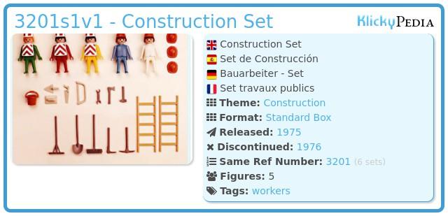 Playmobil 3201s1v1 - Construction Set