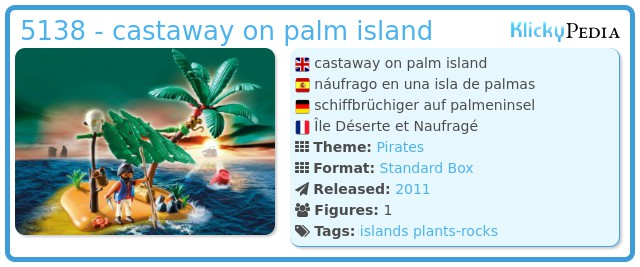 Playmobil 5138 - castaway on palm island