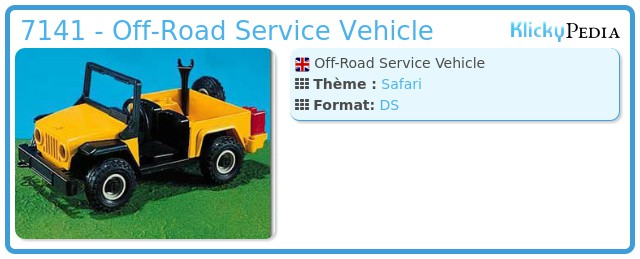 Playmobil 7141 - Off-Road Service Vehicle