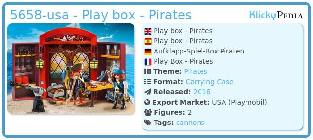 Playmobil 5658-usa - Play box - Pirates