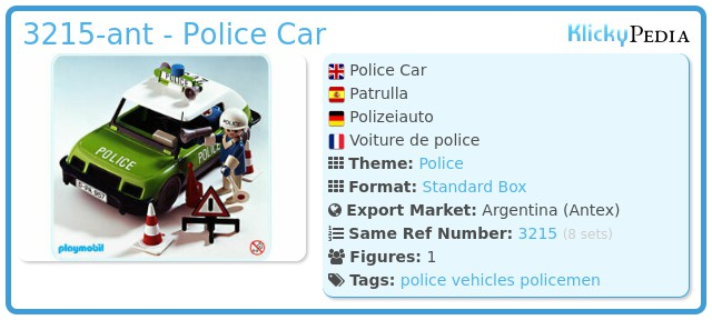 Playmobil 3215-ant - Police Car