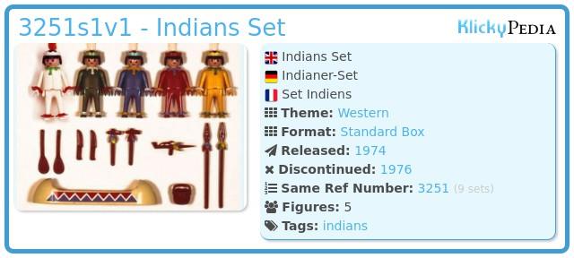 Playmobil 3251s1v1 - Indians Set