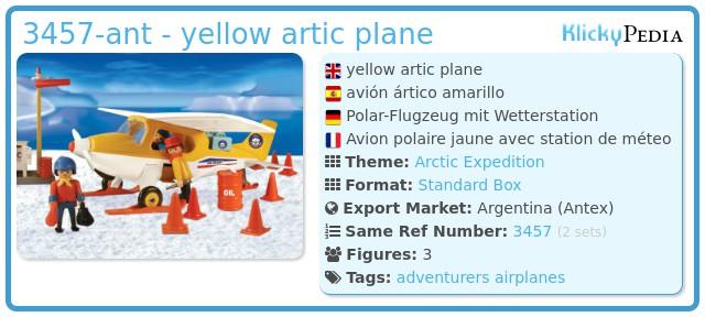 Playmobil 3457-ant - yellow artic plane