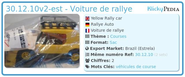 Playmobil 30.12.10v2-est - Voiture de rallye