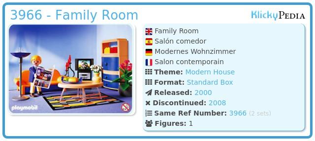 playmobil set: 3966 - family room - klickypedia, Wohnzimmer dekoo
