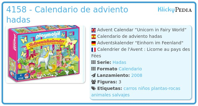 Playmobil 4158 - Calendario de adviento hadas