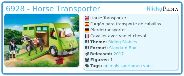 Playmobil 6928 - Horse transport van