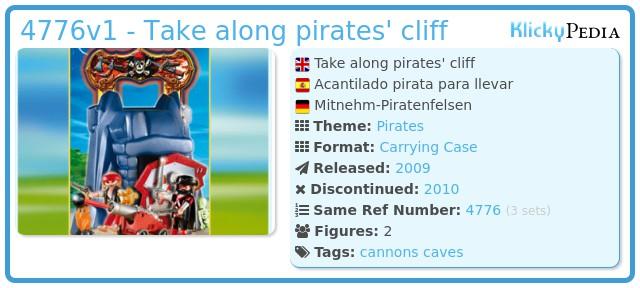 Playmobil 4776v1 - Take along pirates' cliff