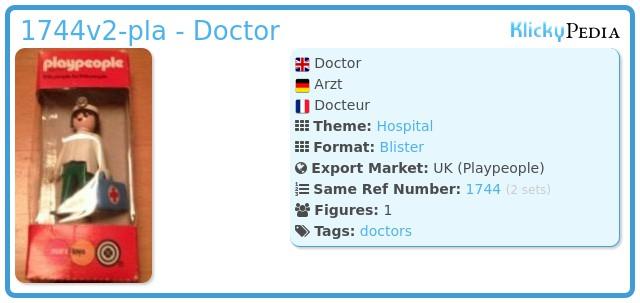 Playmobil 1744v2-pla - Doctor