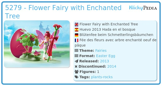Playmobil 5279 - Flower Fairy with Enchanted Tree