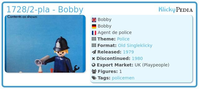 Playmobil 1728/2-pla - Bobby