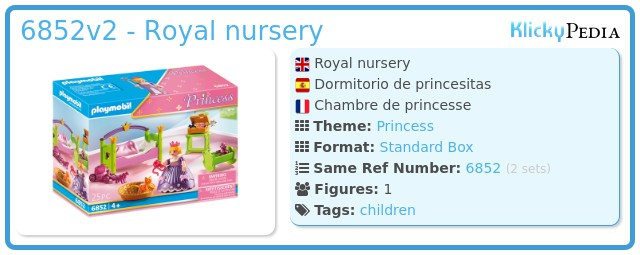 Playmobil 6852v2 - Royal nursery