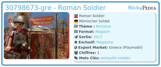 Playmobil 30798673-gre - Roman Soldier