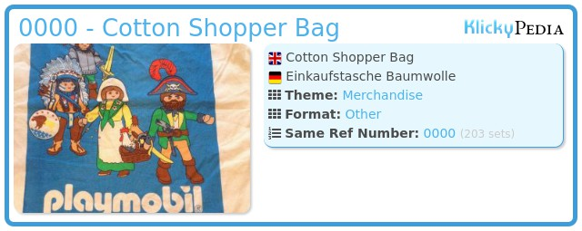 Playmobil 0000 - Cotton Shopper Bag