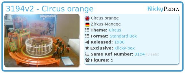 Playmobil 3194v2 - Circus orange