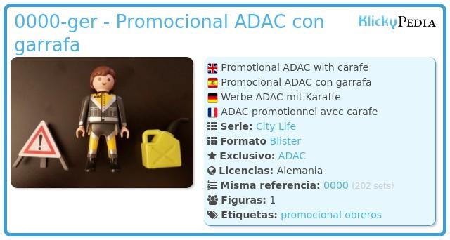 Playmobil 0000-ger - Promocional ADAC con garrafa