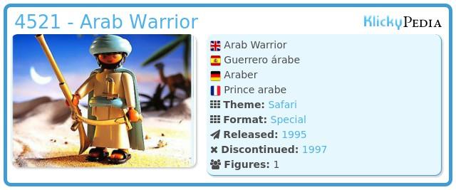 Playmobil 4521 - Arab Warior