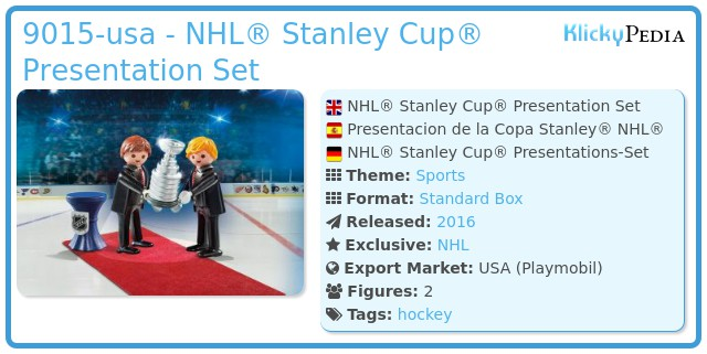 Playmobil 9015-usa - NHL® Stanley Cup® Presentation Set