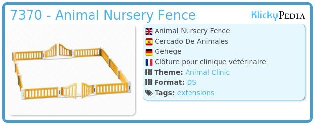Playmobil 7370 - Animal Nursery Fence