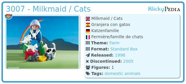 Playmobil 3007 - Milkmaid / Cats