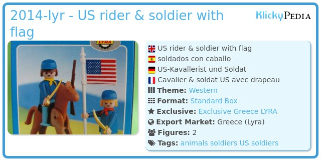 Playmobil 2014-lyr - US rider & soldier with flag