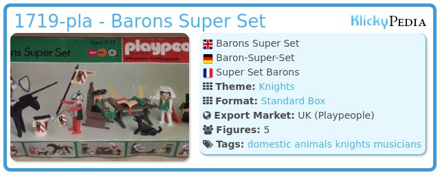 Playmobil 1719-pla - Barons Super Set
