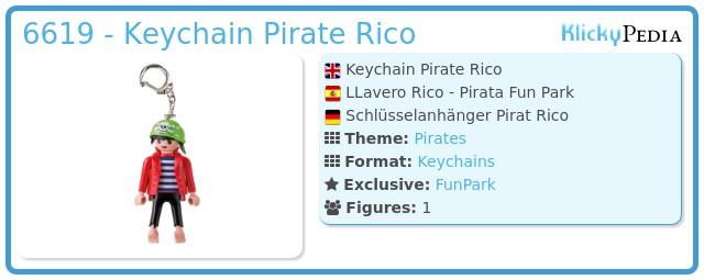 Playmobil 6619 - Keychain Pirate Rico