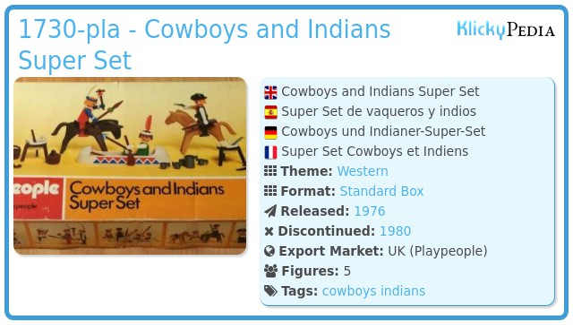 Playmobil 1730-pla - Cowboys and Indians Super Set