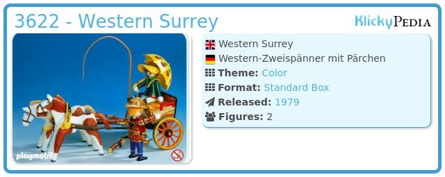 Playmobil 3622 - Western Surrey