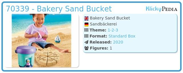 Playmobil 70339 - Bakery Sand Bucket