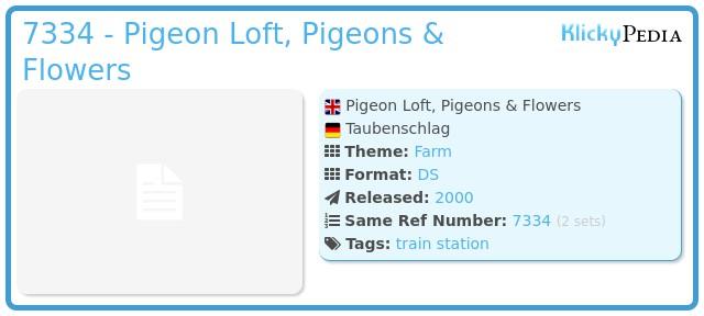 Playmobil 7334 - Pigeon Loft, Pigeons & Flowers