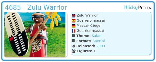 Playmobil 4685 - Zulu Warrior