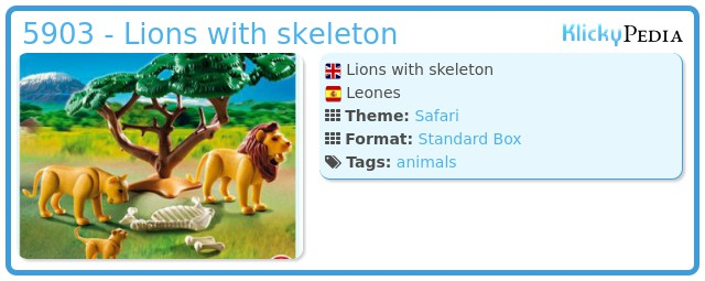 Playmobil 5903 - Lions with skeleton