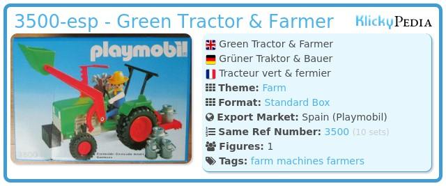 Playmobil 3500-esp - Green Tractor & Farmer