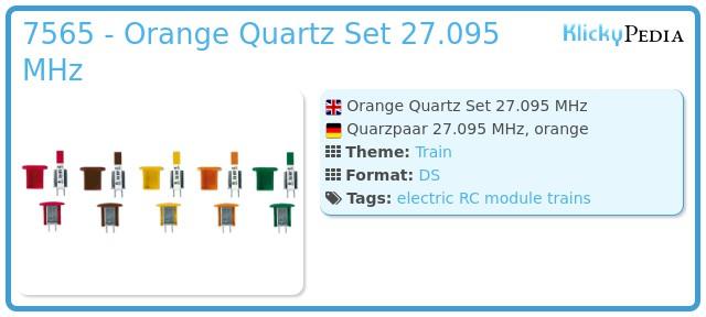Playmobil 7565 - Orange Quartz Set 27.095 MHz