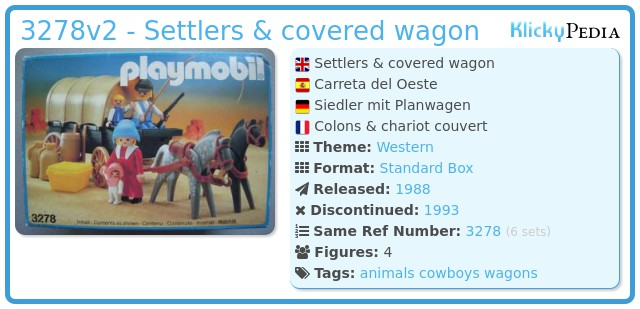 Playmobil 3278v2 - Settlers & covered wagon