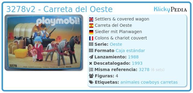 Playmobil 3278v2 - Carreta del Oeste