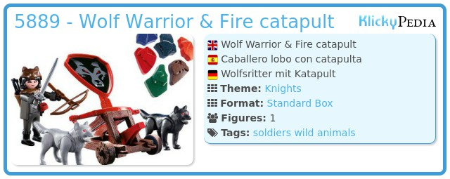 Playmobil 5889 - Wolf Knight & Fire catapult