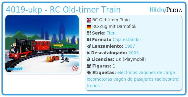 Playmobil 4019-ukp - RC Old-timer Train
