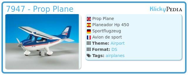 Playmobil 7947 - Prop Plane