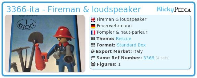Playmobil 3366-ita - Fireman & loudspeaker